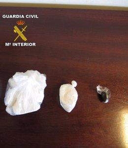 Droga incautada por la Guardia Civil