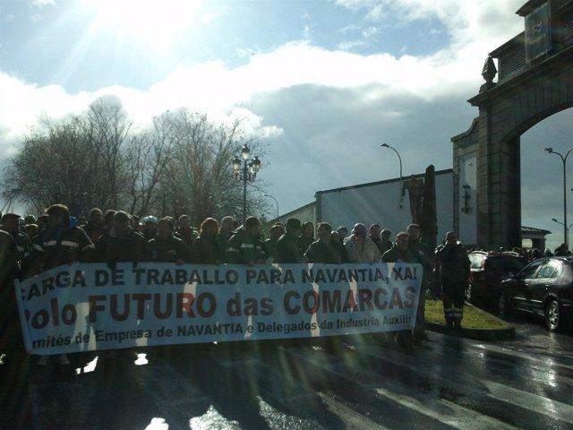 Manifestación de trabajadores de Navantia en Ferrol