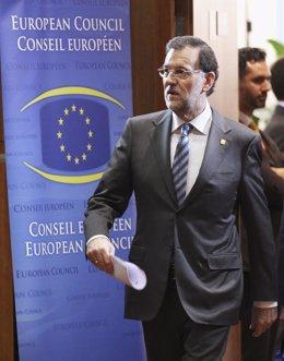 Mariano Rajoy En El Consejo Europeo En Bruselas