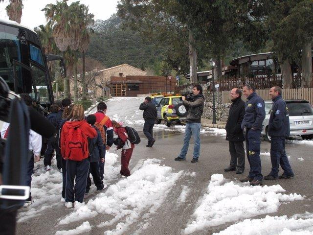 Gornés visita a los niños en Lluc