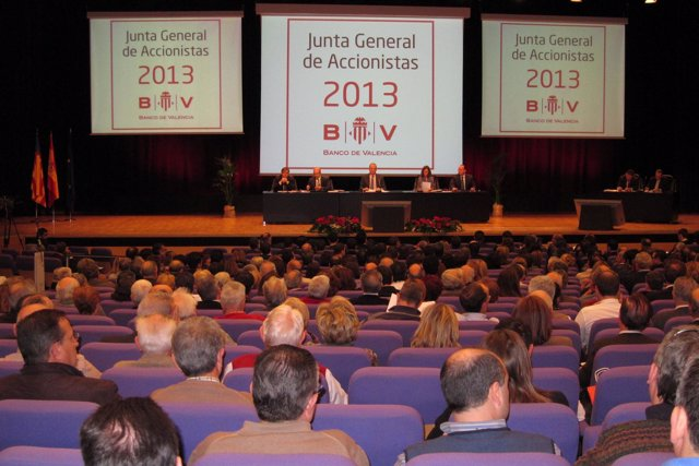 Junta de accionistas de Banco de Valencia