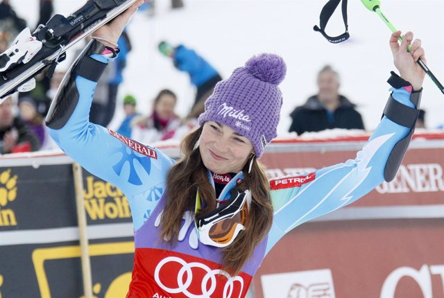 Tina Maze, ganadora el Slalom de Courchevel