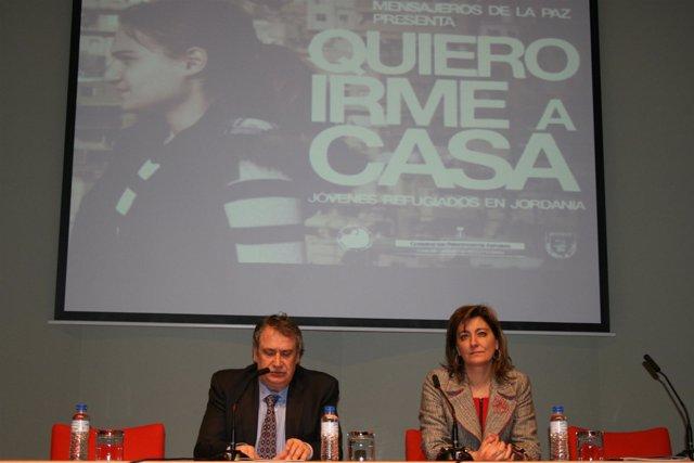Esther Díaz, durante la presentación de la campaña.
