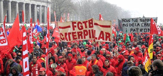 Marcha contra la austeridad en Bruselas