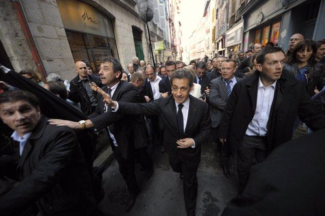 Nicolas Sarkozy De Visita En Bayona