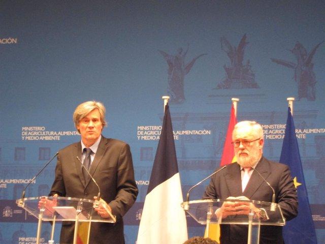 Miguel Arias Cañete y Stephane Le Foll