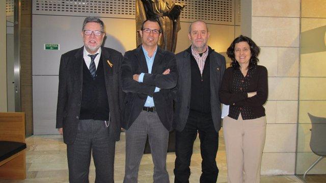 Miquel Rosselló, Biel Barceló, Joan Francesc Canyelles y Fina Santiago