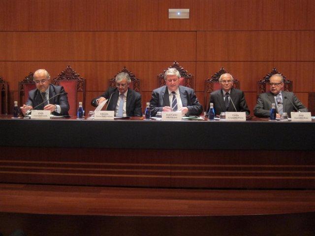 Conferencia en el Colegio de Notarios de Barcelona con Eduardo Torres-Dulce