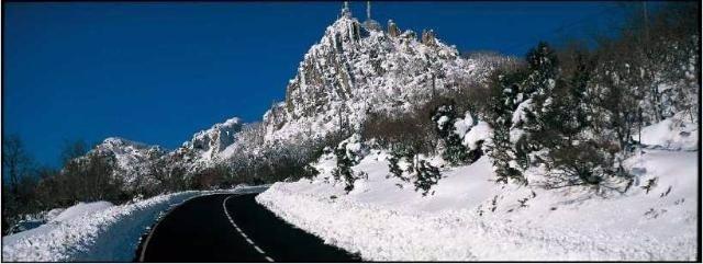 Nieve en la carretera.