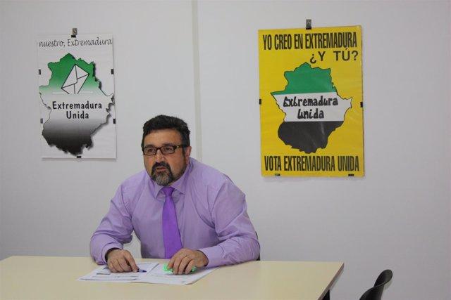 Juan Pedro Domínguez, Secretario General De Extremadura Unida