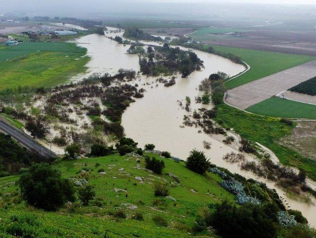 Crecida del río Guadalquivir en la provincia de Córdoba