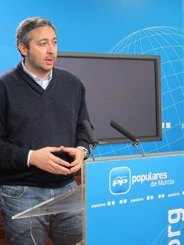 El coordinador de Acción Política y portavoz adjunto del PP, Víctor Martínez