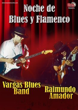 Cartel de Noche de Blues y Flamenco