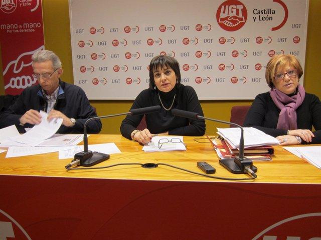 Responsables de la FSP de UGT en Valladolid y CyL.