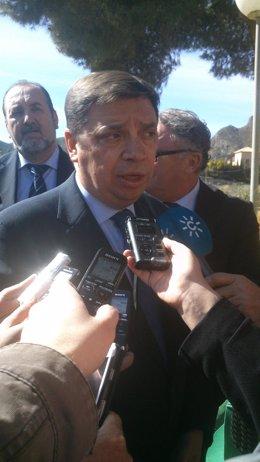 El consejero Luis Planas, hoy en Cuevas del Almanzora