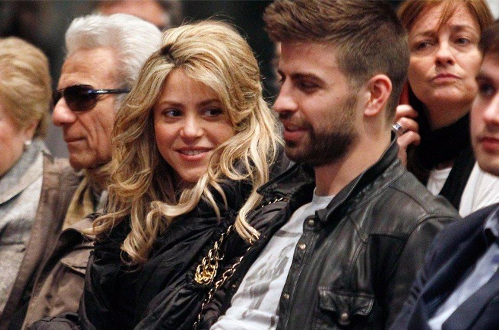 Shakira y Piqué en la presentación del libro de Joan Piqué