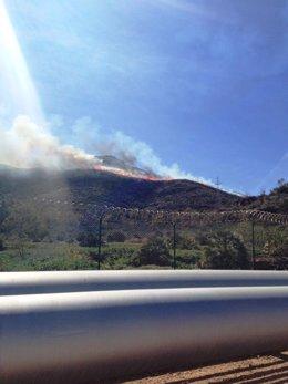 Incendio cercano a refinería Escombreras