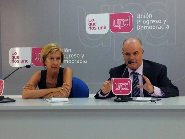 Rosa Díez y Carlos Martínez Gorriarán