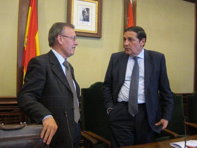 El consejero Sáez Aguado durante su visita a Béjar