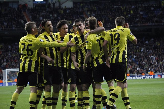 Celebrando Gol Borussia Dortmund Real Madrid