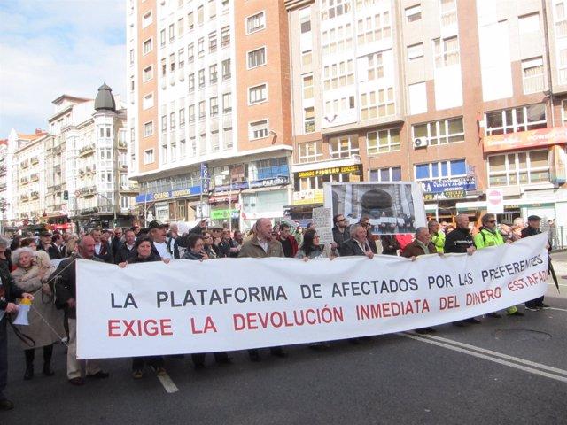 Protesta de las preferentes. 10 de marzo de 2013