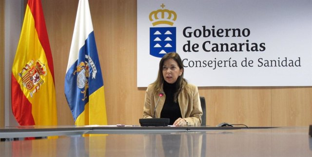 La consejera de Sanidad del Gobierno de Canarias, Brígida Mendoza