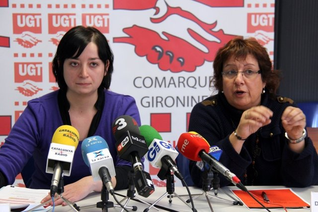 Núria Rocadembosch y Dolors Bassa, UGT en Girona