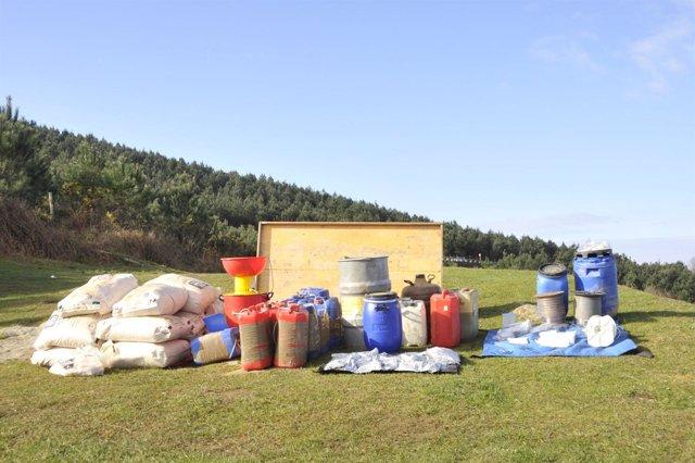 Material intervenido en 2011 al comando de ETA 'Erreka'