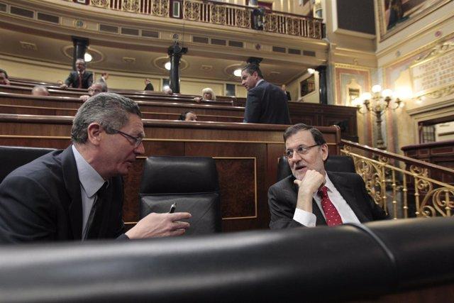 Alberto Ruiz Gallardón y Mariano Rajoy