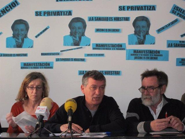 Miembros plataforma contra privatización de la Sanidad