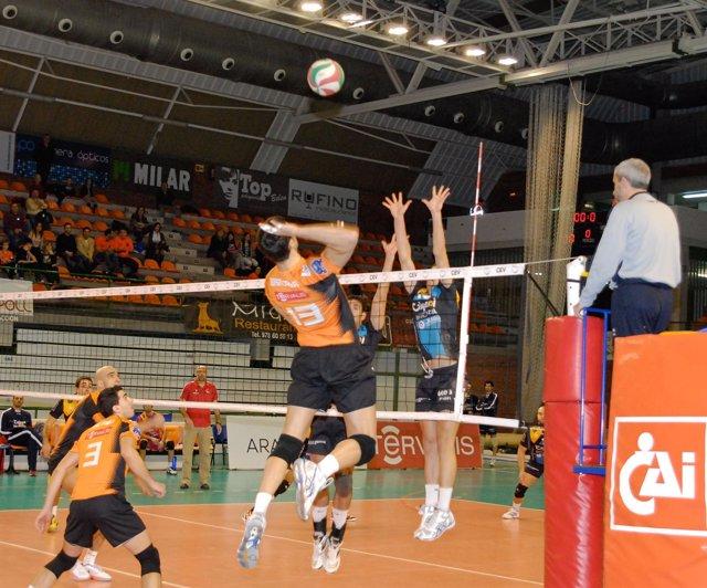 CAI Voleibol Teruel y Cajasol Juvasa