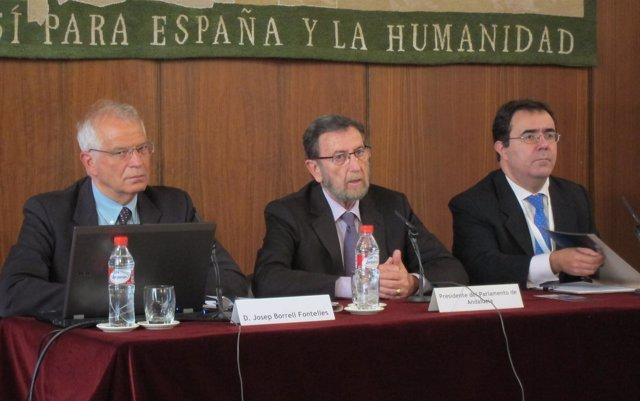 Josep Borrell, Manuel Gracia y Vicente Guzmán