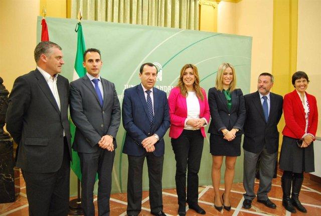 La consejera de Presidencia con los delegados de la Junta en Málaga