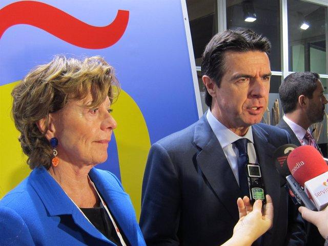 José Manuel Soria y Neelie Kroes