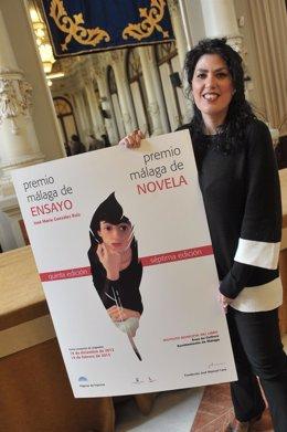 Eva Díaz Pérez, ganadora del VII Premio Málaga de Novela
