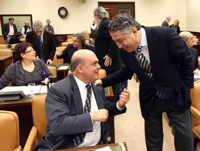 Emilio Olabarria (PNV) y Tomás Burgos (PP)