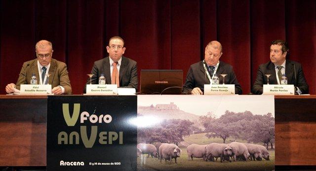 El V Foro de la Asociación Nacional de Veterinarios del Porcino Ibérico (Anvepi)