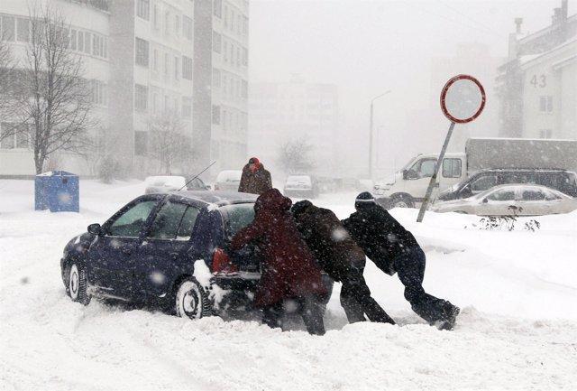 Ola de frío en el este de Europa