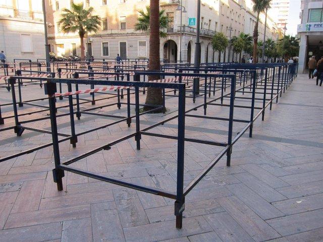 Palcos de la Semana Santa de Huelva.