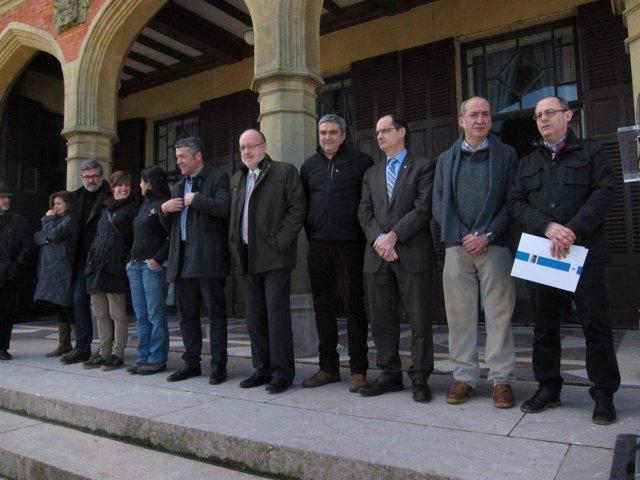 Garitano recibe a representantes catalanes