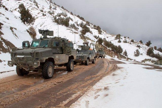 Primer convoy de repliegue de las tropas españolas en Afganistán