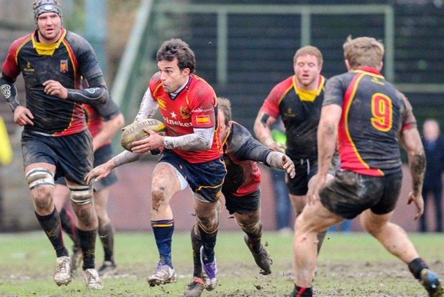 España y Bélgica en el Europeo de Rugby