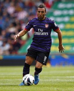Santi Cazorla con el Arsenal