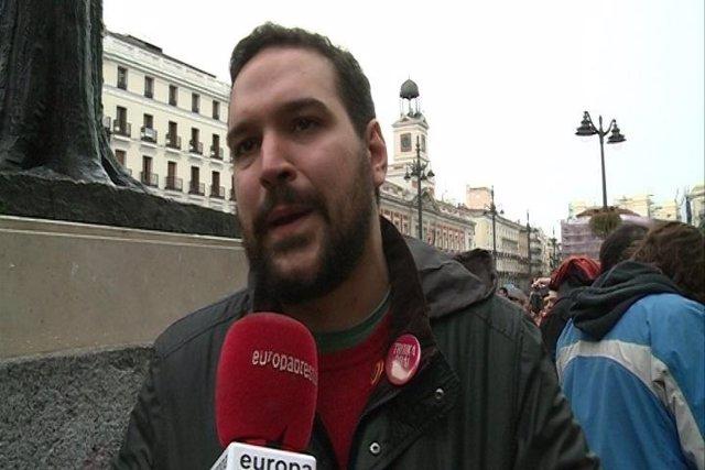 João Camargo, representante de 'Que se lixe a Troika'