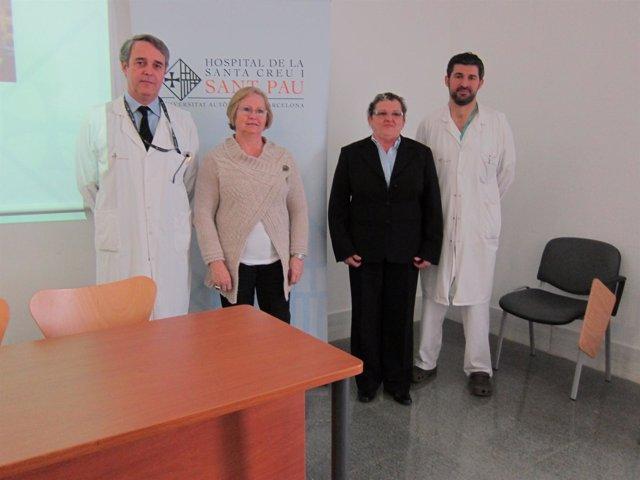 Presentación de una operación pionera contra el asma grave en Sant Pau