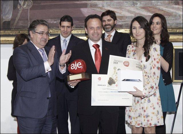 Soltel recibe el Premio AJE.
