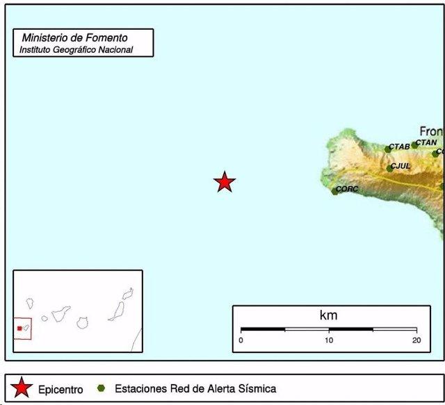 Localización del sismo