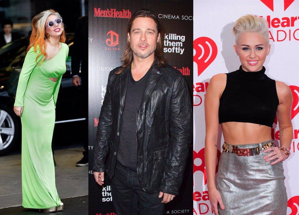 Montaje Lady Gaga, Brad Pitt y Miley Cyrus
