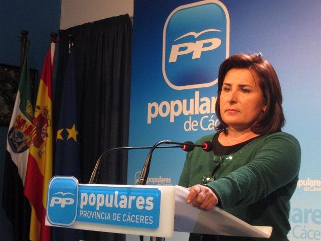 La Portavoz Del PP En Extremadura, Francisca Rosa.