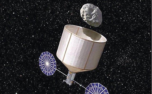 Nave que captura un asteroide